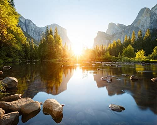 AOFOTO 10x8ft Sunrise Valley Photography Studio Backdrop Mountain Nature Landscape Background product image