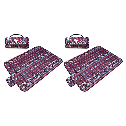 KUCONGST 2 PCS Picnic manta viaje picnic alfombra playa senderismo accesorios playa manta camping portátil