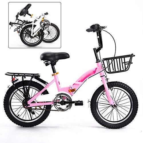 YRYBZ Bicicleta MTB Plegable, 18/20 Pulgadas Mountainbike, Bicicleta de Montaña para Niños...