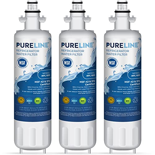 Pureline LT700P Replacement Water Filter, Also Fits Kenmore Elite 46-9690, ADQ36006101, ADQ36006101-S, LMXS27626s, LFXS29766s, & HDX FML-3, Kenmore 9690,Kenmoreclear 9690, and Many More. (3 Pack)