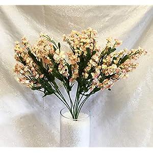 12 Baby's Breath Light Pink & Cream Gypsophila Silk Wedding Artificial Flowers