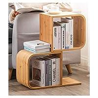 本棚 オフィスの本棚 ノベルティ竹製本棚ラック大容量設備ベッドサイドテーブル/サイドテーブル/仕切り居住用簡単な組み立て本棚収納棚、狭い、寝室、オフィス、自然な色 自立型本棚 (Size : 2-Shelf)