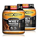 Body Fortress Super Advanced Whey Protein Powder, Gluten Free, Chocolate Peanut Butter, 2 Pound, 2 Pack, (2lbs Total) (Packaging May Vary)