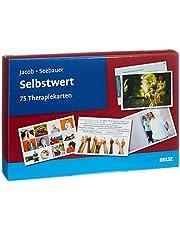 Selbstwert: 75 Therapiekarten. Kartenset mit 75 Karten in stabiler Box, mit 24-seitigem Booklet. Kartenformat 16,5 x 24 cm.