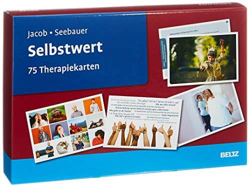 Selbstwert: 75 Therapiekarten. Kartenset mit 75 Karten in stabiler Box, mit 24-seitigem Booklet. Kartenformat 16,5 x 24 cm. (Beltz Therapiekarten)
