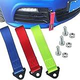 dancepandas Cerda de Remolque Racing 3PCS Universal Cinta de Remolque Coche 2 Toneladas Correa de Remolque Nylon Tow Strap para Racing Car y Vehículos de Emergencia (Rojo Azul Verde)