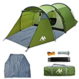 Backpacking Tents for 1/2/3 Person, AYAMAYA Lightweight Waterproof Camping Tunnel Tent with One Removable Bedroom & Vestibule Footprint, Ideal for 1-3 People Motorcycle Bikepacking Survival Expedition