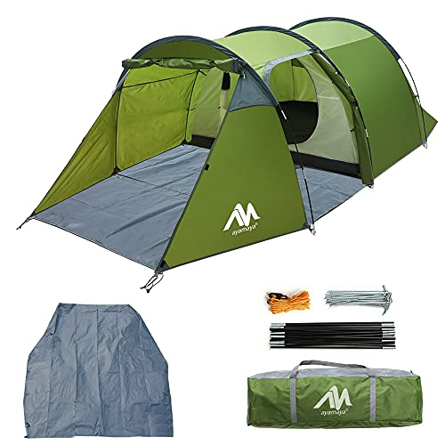 Backpacking Tents for 1/2/3 Person, AYAMAYA Lightweight Waterproof Camping Tunnel Tent with One...