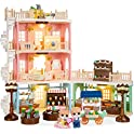Best Choice Products Deluxe Cottage Dollhouse Town Mansion Playset