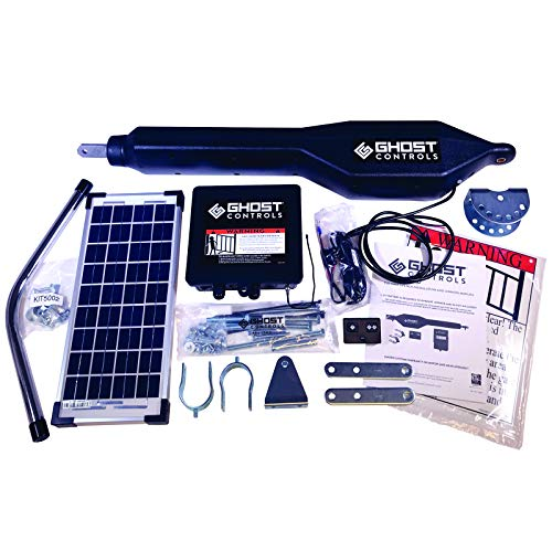 Ghost Controls TSS1XP Heavy-Duty Solar Single Automatic Gate Opener Kit for Swing Gates Up to 20...