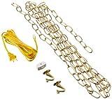 Westinghouse Lighting 7048000 12-Foot Swag Kit, Polished Brass Finish