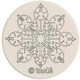 トスレ 北海道 珪藻土 コースター 日本製 ノンアスベスト サークルハワイアン2枚組 直径95mm 全37種