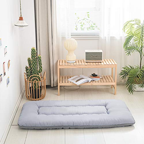 "Kids Floor Mattress Floor Bed Foldable- Thick Memory Foam Toddler Bed Mattress, Portable Travel Mattress Camp Mattress Tatami Mat for Kids, Includes Carry Storage Bag (52"" x28"