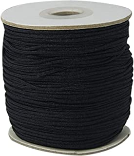 ARRICRAFT 1 Roll 1.5mm Black Nylon Cord Round Glossy String Thread for DIY Craft and Jewelry Making, About 140yards/roll