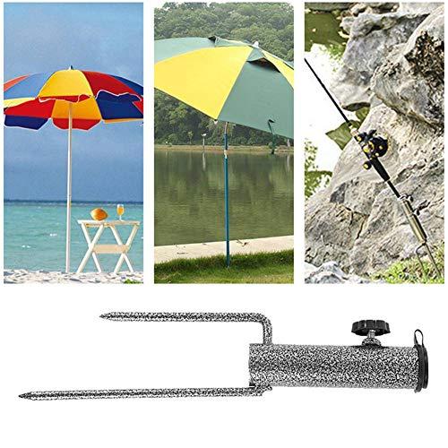 Rasendorn Sonnenschirm, 32 cm Gartenschirm Schirmständer Universal Sonnenschirm Hochleistungs Metall Boden Gras Schneckenhalter Sonnenschirm Basis