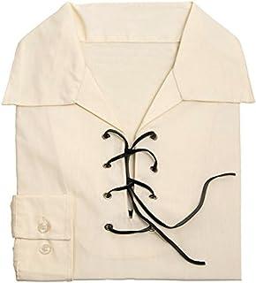 Kilts Wi Hae Deluxe Jacobite Jacobean Ghillie Shirt - Cream/Ecru. Own Brand. Sizes Extra Small to 4XL