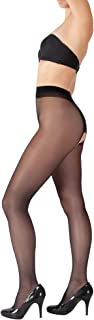 Giulia Damen Strumpfhose mit offenem Schritt 20 Den durchsichtig