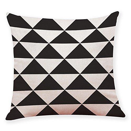 Imprimé géométrique Taies d/'Oreiller Canapé Coussin Polyester Pillow Covers Home Decor