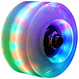 mafffoliverr Roller Skate Wheels Luminous Light Up, with Bearings Outdoor Installed 4 Pack - Roller...