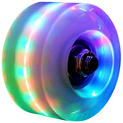 8 Pack Luminous LED Light Up Indoor or Outdoor Roller Skate Wheels for Roller Skate and Skateboard 60mm x 30mm Twinbuys Roller Skate Wheels with Bearings Installed