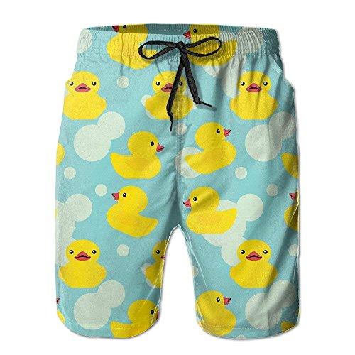 Kleine gelbe Herren Ente Sommer Badehose Strand Shorts Board Cargo Shorts Schnell trocknend