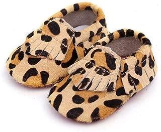 Cheetah Fur Fringe Moccasins