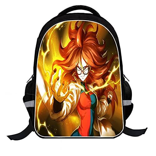 LSSQT Mochilas,Anime 3D Dragon Ball Z Mochila Universitaria Mochila De Viaje Informal Unisex Mochila Escolar Mochila Mochila Para Computadora Portátil Para Adolescentes De 16 Pulgadas