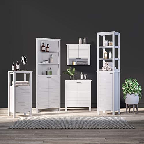 RiverRidge Home Madison Collection Tall White Corner Cabinet,