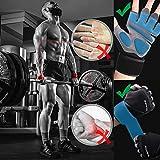 Grebarley Fitness Handschuhe,Trainingshandschuhe,Gewichthebehandschuhe für Krafttraining,Bodybuilding,Sporthandschuhe für Damen und Herren(Schwarz, M) - 3