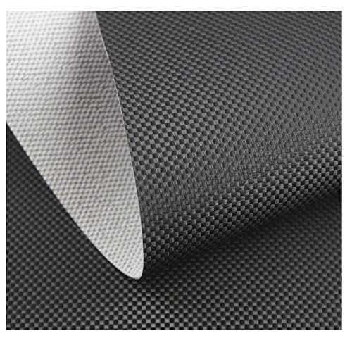 Kunstleder Sitzbank Textil Meterware Polster Carbon Look - Schwarz UV+
