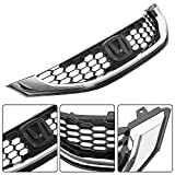 ECOTRIC Front Grille Black w/Molding Compatible with 2013 2014 2015 Honda Civic Sedan - Replace For HO1200216 HO1202109 71121TR3A01 71122TR3A01