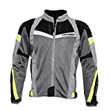 TVS Polyester Riding Jacket - Level 2 (Neon Line, L)