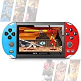 Handheld Game Console, Mini Retro Player Built-in 600 Classical Games 4.3Inch TFT Color Screen Rechargeable Battery Present Game Box for Kids and Adult