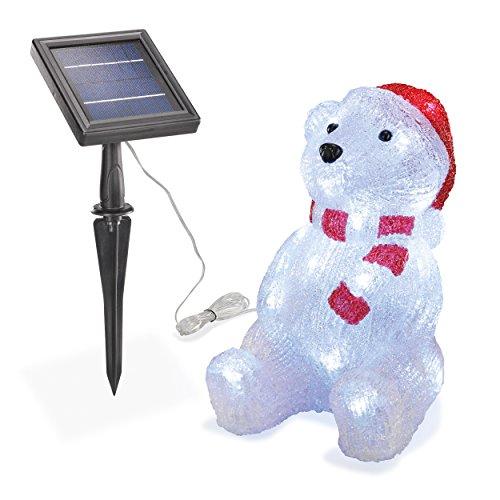 Solar Leuchtbär Willy 30 LEDs Winterdekoration Weihnachtsdeko Außenbeleuchtung 102123