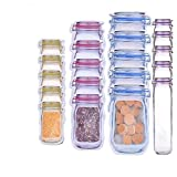 ZNQPLF Forma Botellas Bolsas Jar Cremallera Bolsa De Alimentos Snack-Selle La Bolsa Frescas Bolsas Selladas A Prueba De Fugas del Organizador del Bolso 170 (Color : 20PCS)