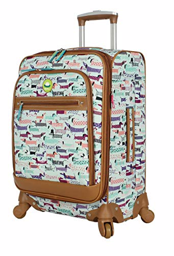Lily Bloom Luggage Carry On Expandable Design Pattern Suitcase For Woman With Spinner Wheels (Totally Paw Some, 20in)
