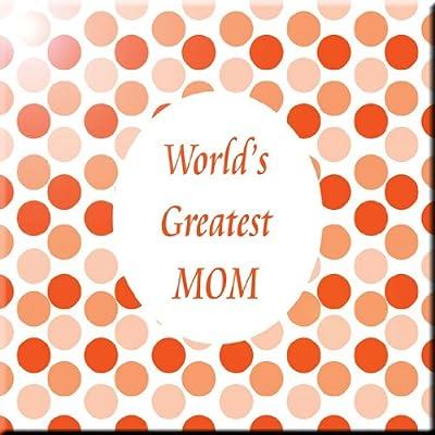 Rikki Knight 8 x 8 Worlds Greatest Mom Colored Polka Dot Design Ceramic Art Tile