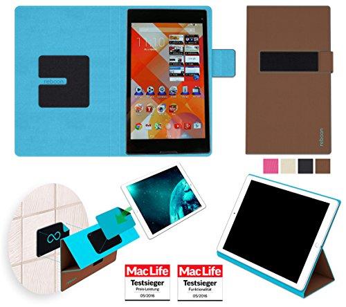 Hülle für Medion Lifetab S8311 Tasche Cover Hülle Bumper | in Braun | Testsieger