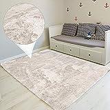 Amazinggirl Alfombra de pelo largo para salón o dormitorio, 200 x 300 cm, color blanco