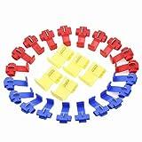 Surtido de conectores de derivación, 100 unidades, surtido de conectores Wire Connectors Set,conector rápido de cables conectores Rojo, Azul, Amarillo