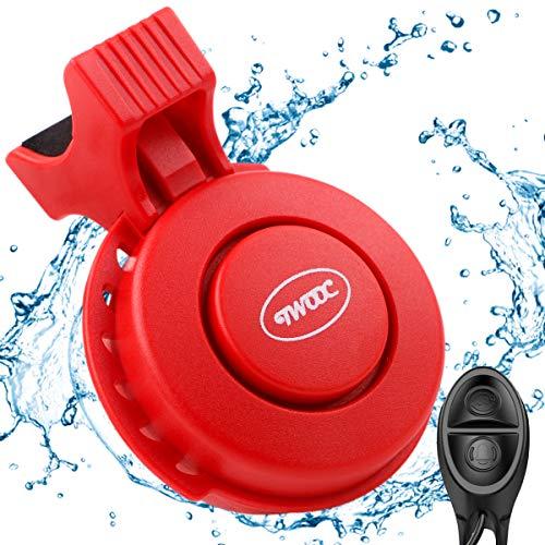 FancyWhoop Bocina para Bicicleta electrónica de 120 db 4 Modos de Sonido Timbre de Bicicleta USB Recargable Resistente al Agua para Bicicleta de