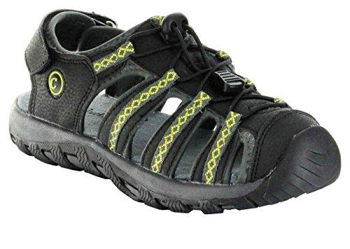 ConWay Sandaletten Outdoor grün Damen/Herren-Trekking-Schuhe Split, Farbe:grün, Größe:37 EU