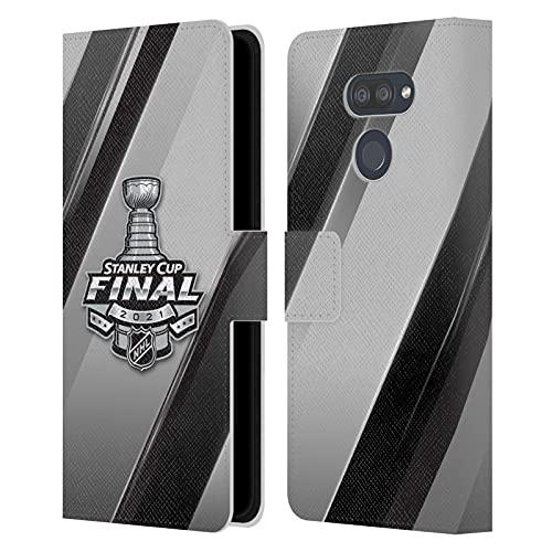 Head Case Designs Licenciado Oficialmente NHL Rayas 2 Final de la Stanley Cup 2021 Carcasa de Cuero Tipo Libro Compatible con LG K40S