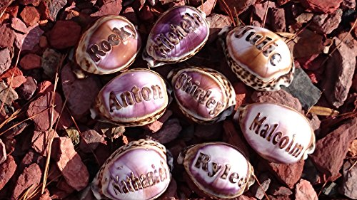 'Darrell' Personalized Seashells Engraved. Names Engraved on a seashell - Hand Made - All Natural - Say It On A Shell