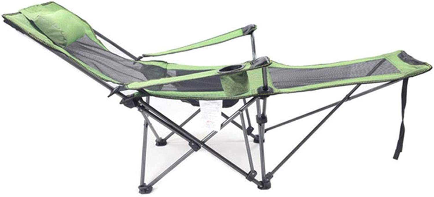 Mesh Breathable Folding Beach Chair Lounge Chair Lunch Break Recliner with Cup Hole for Camping,Hiking, Traver, Party.