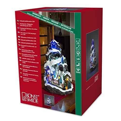 """Konstsmide 3494-000 LED Szenerie \""""Skiabfahrt\"""" / für Innen (IP20) / 4,5V Innentrafo / mit Animation und 8 klassischen Weihnachtsliedern / 9 bunte Dioden / transparentes Kabel"""