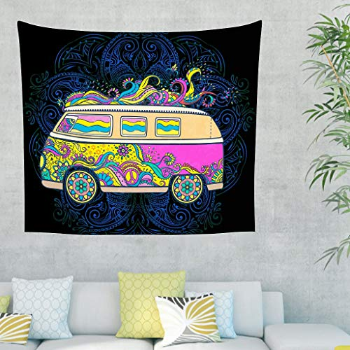 Yrgdskuvle Tapiz de pared de la antigua India, para el coche o el dormitorio, elegante tapiz para colgar en la pared, para dormitorio o dormitorio, color blanco, 200 x 150 cm