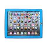 Lerncomputer Laptop elektronisches pädagogisch Kinder Tablet für Baby Kinder zu Lernaktivitäten für Buchstaben Wörter Zahlen oder Kleinkinder(Blau) -