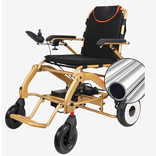 Faltbarer Rollstuhl Sicher Und Bequem Elektrischer Rollstuhl Faltbar Leicht 360 ° -Controller Mit Bluetooth-Funktion FM Foldawheel Elektrorollstuhl Verschleißfester Reifen,12AH