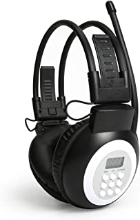 JESSON Walkman Headphone Radio Portable FM Stereo Headset Radio Receiver Digital FM Hearing Protector Earmuff Power on by ...